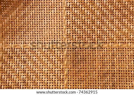 Thai handcraft of bamboo weave pattern - stock photo