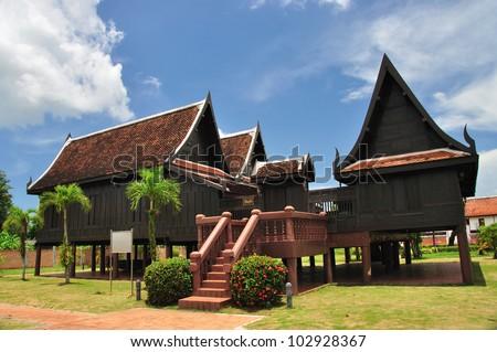 Thai house style - stock photo