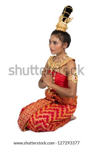 Thai lady - stock photo