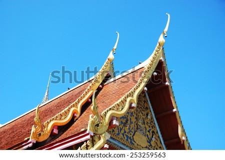 Thai Laos Temple - stock photo