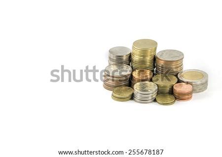 thai money coins - stock photo