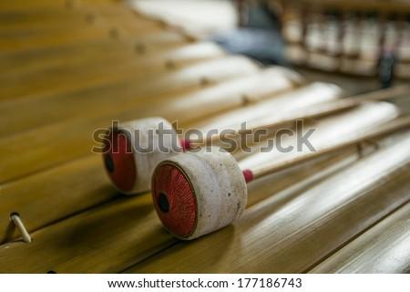 Thai musical instrument (Alto xylophone) - stock photo