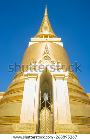 Thai Pagoda in the Royal Palace is beautiful at Wat Phra Kaew, Thailand - stock photo