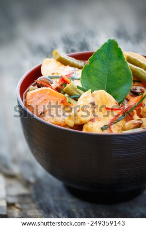 Thai Panang Chicken curry - stock photo