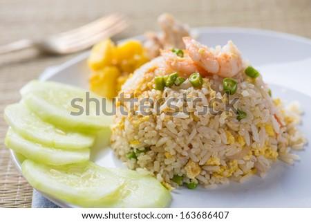 thai pinapple fried rice food - stock photo