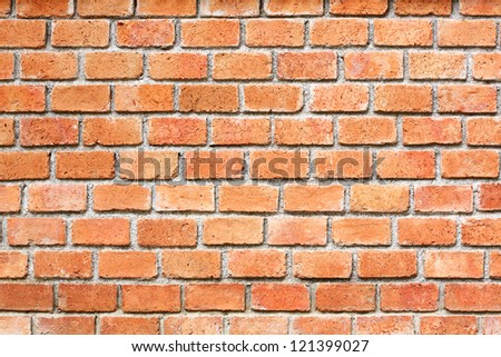 Thai Red brick wall outside the building - stock photo