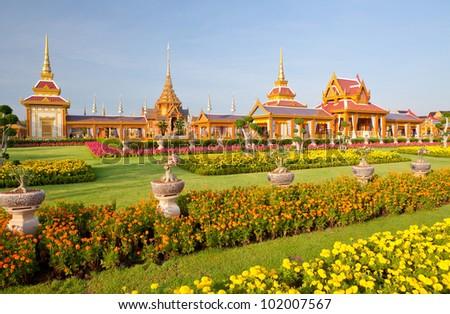 Thai royal funeral - stock photo
