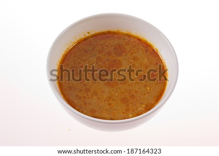 Thai satay sauce. - stock photo