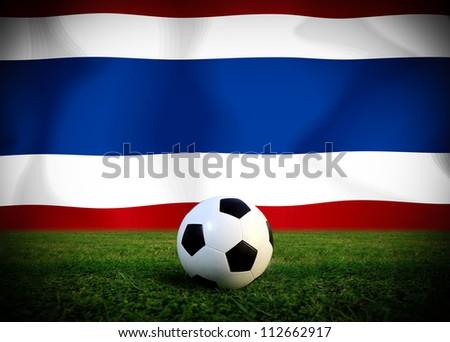 Thai soccer ball - stock photo