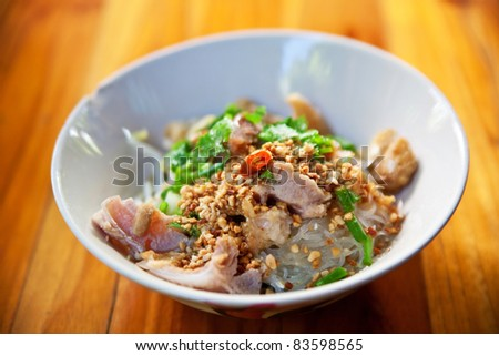 Thai spicy noodle in Thailand - stock photo