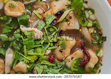Thai Spicy Pork Bone Soup.Thai Food - stock photo