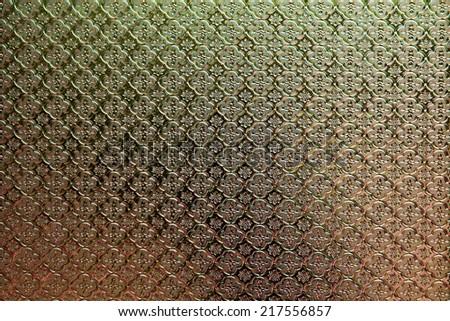 Thai style glass texture - stock photo
