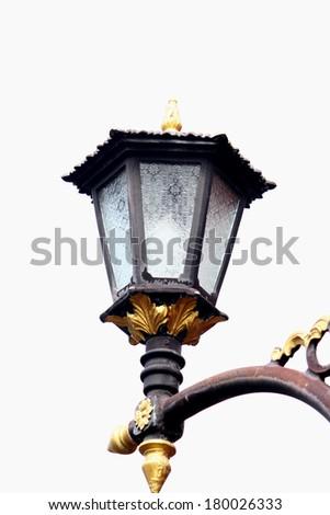 Thai style lamp - stock photo