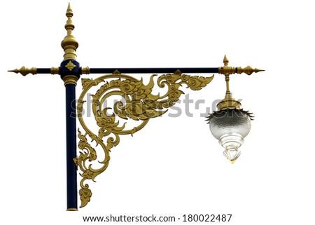 Thai style lamp post - stock photo
