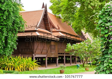 Old thai house stock photos images pictures shutterstock for Thai classic house