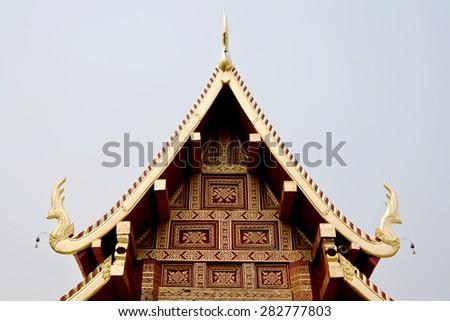 Thai temple - stock photo