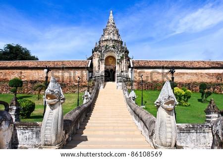 Thai temple in Lampang - stock photo