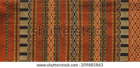 Thai textile pattern background (Asian fashion and art) - stock photo