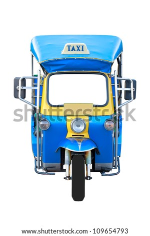 Thai traditional Tuk Tuk in Bangkok of Thailand - stock photo