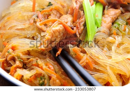 thai wok food - stock photo