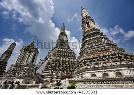 Thailand, Bangkok, Yai District, Arun Temple (Wat Arun Ratchawararam) - stock photo