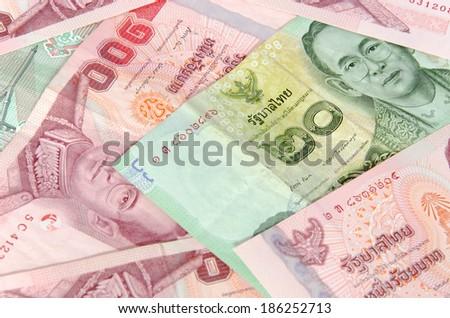 Thailand banknotes one hundred   and  twenty   baht - stock photo