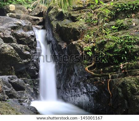Thailand. Chang Island. Waterfall. - stock photo
