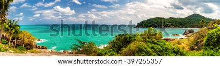 Thailand coastline. Landscape panorama - stock photo