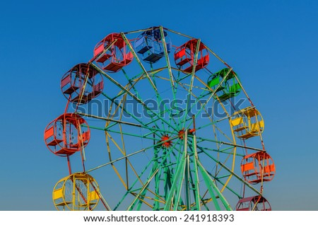 Thailand Ferris wheel old style. - stock photo
