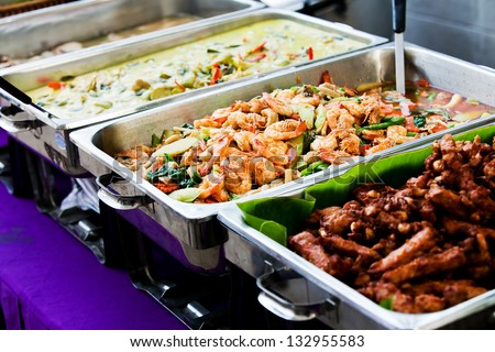 Thailand food buffet. - stock photo