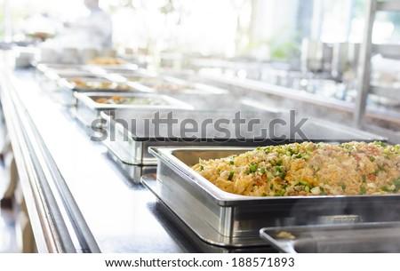 Thailand food buffet - stock photo