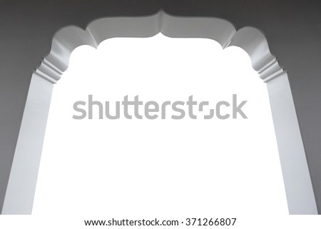 Thailand gate with space for your on white backgroud and clipping path - stock photo
