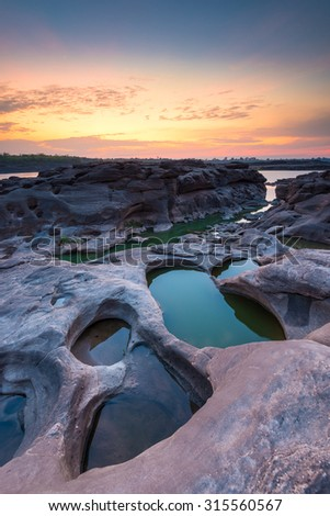 Thailand Grand Canyon view in morning. - stock photo