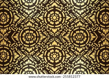 Thailand Lanna pattern  - stock photo