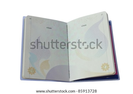 Thailand Official Passport Isolated on White Blackground. - stock photo