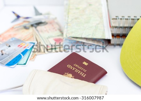 Thailand passport for tourism in pocket - stock photo