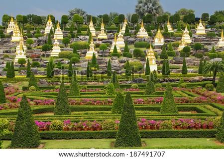 Thailand, Pattaya. A botanical garden of Nong Nuch. - stock photo