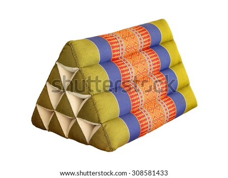 Thailand scatter cushion in isolated white - stock photo