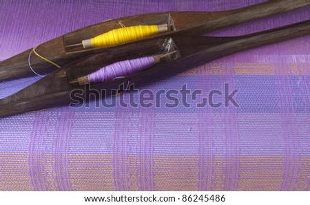 Thailand silk - stock photo