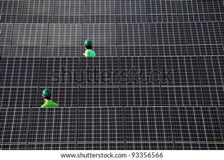 Thailand solar farm - stock photo