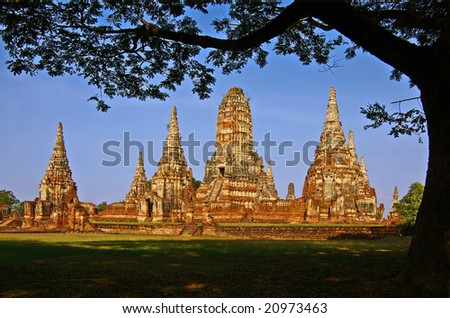 Thailand, Sukhothai Historical park. Ruins of the old tamples in historical park Sukhothai. - stock photo