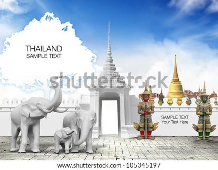 Thailand travel concept - stock photo