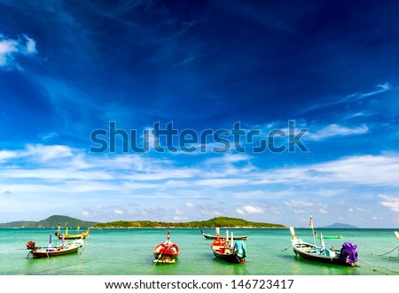 Thailand tropical beach exotic landscape - stock photo