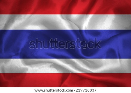 Thailand waving Flag - stock photo