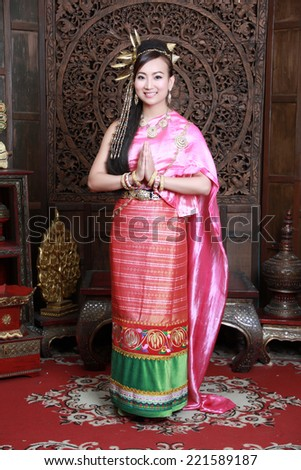 Thailand with Thailand in the north studio Lanna ChiangMai, Thailand. - stock photo