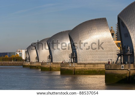 Thames barrier - stock photo