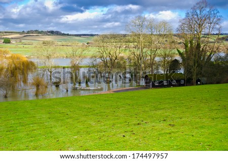 Thames flood - stock photo
