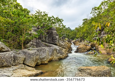Than Sadet waterfall in Thailand - stock photo