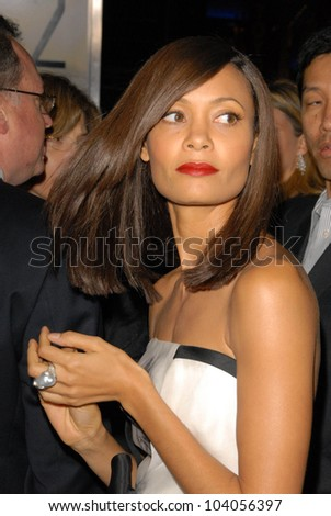 """Thandie Newton at the premiere of '2012,"""" Regent Cinemas L.A. Live, Los Angeles, CA.  11-3-09 - stock photo"""