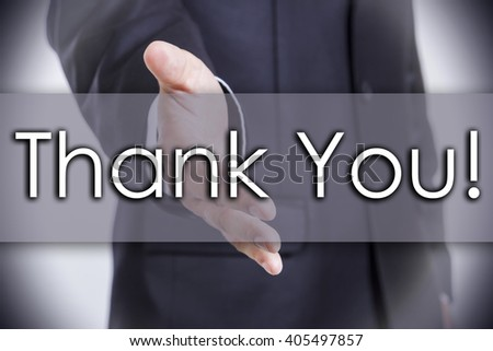 Thank You! - business concept with text - horizontal image - stock photo